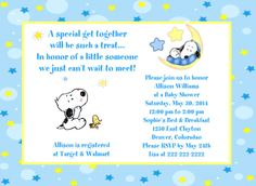 Snoopy Baby Shower Invitations Lovely Baby Snoopy Moon and Stars Baby Shower Invitations Printable Baby Shower Invitations, Birthday Invitation Templates, Baby Shower Printables, Baby Shower Themes, Shower Ideas, Invitation Ideas, Baby Theme, Invites, Baby Snoopy
