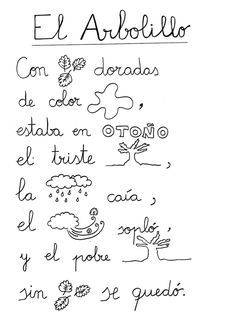 Poesias con pictogramas para leer Spanish Songs, Spanish Lessons, Learning Spanish, Bilingual Classroom, Spanish Classroom, Preschool Songs, Preschool At Home, Reading Resources, Reading Skills