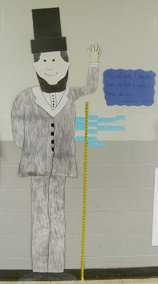 Cute President's Day math activity with measuring!!! Use different tools for non-standard measurement and display. Ex. Abe is ____ unifix cubes tall.