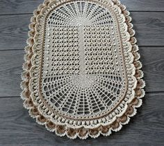 Oval cream crochet doily large lace doily table decor crochet table runner textured doily birthday gift housewarming gift mother s day gift Crochet Table Runner, Crochet Tablecloth, Lace Doilies, Crochet Doilies, Crochet Motif, Free Crochet, Doily Patterns, Crochet Patterns, Pineapple Crochet