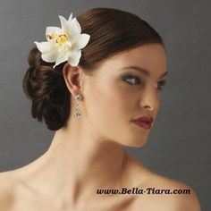 BEAUTIFUL double orchid flower hair clip