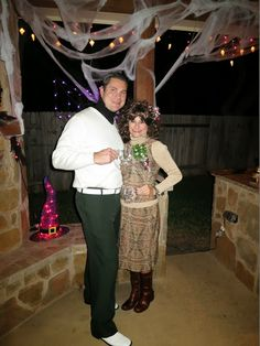Cousin Eddie & Catherine from National Lampoons Christmas Vacation. DIY Halloween Costume Ideas.