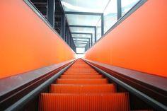 Ruhr Museum Essen Zeche Zollverein Orange Escalator