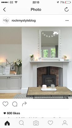 Wood burner fire place