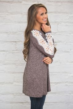 This unique lace sleeve blouse is such a must-have - with just one glance, you're sure to fall in love!