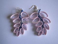 Handmade Jewelry - Paper Quilling Earrings (4)