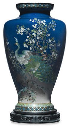 Japanese__CLOISONNE enamel vase By the Ando workshop, Meiji period (circa 1900)