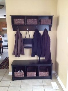 Entry bench and shelf