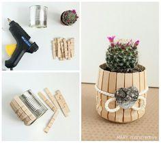 14 Ideas de manualidades con ganchos de madera o pinzas de ropa