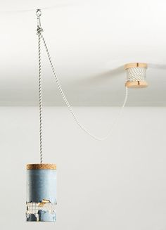 """Concrete lamp by Dragos Motica. This is one of the original """"customisable"""" lighting pendants. I enjoy the idea that one small mistake in the removal of the concrete could result in an accidental design. Ceiling Light Design, Lighting Design, Ceiling Lights, Concrete Light, Concrete Lamp, Beton Design, Concrete Design, Nook Architects, Luminaria Diy"""