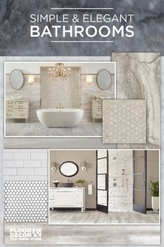 Get inspired with these elegant bathroom spaces...