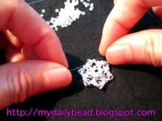 http://mydailybead.blogspot.com  This video will show you how to make a snowflake ring with crystal beads. You can also make earrings and pendant out of the pattern. http://www.youtube.com/watch?v=bQnghCc_ekQ for part 2