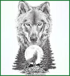 Wolf on moon tattoo design wolf tattoo meaning, lone wolf tattoo, two Wolf Tattoos, Lone Wolf Tattoo, Howling Wolf Tattoo, Wolf Tattoo Sleeve, Head Tattoos, Elephant Tattoos, Wolf Howling, Skull Tattoos, Animal Tattoos
