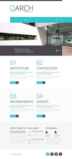 TM 44333 Скриншот главной страницы WordPress - Photoshop - web architect resume