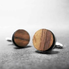 Drewniane Spinki do Mankietów SmartWoods ORZECH - Smartwoods - Spinki do mankietów