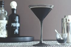 With Halloween just days away, I wanted a cocktail that would chill your bones. Last week I set the mood with a spooky pumpkin punch, but this drink needed to be truly terrifying. First, I turned it as black as the sea floor. Almost unnaturally so. But you won't find any food coloring in this drink