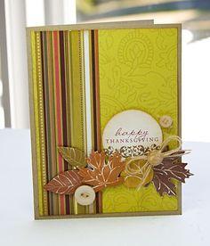 really pretty fall/Thanksgiving card idea