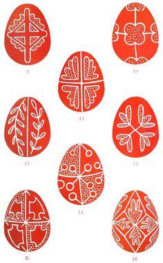 Plate Folk-Lore, vol. 20 - Folk-Lore/Volume Easter Eggs - Wikisource, the free online library Egg Crafts, Easter Crafts, Orthodox Easter, Easter Egg Pattern, Pot Pourri, Greek Easter, Ukrainian Easter Eggs, Egg Art, Easter Eggs