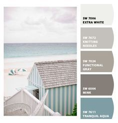Instantly turn any picture into a palette with ColorSnap, created for you by Sherwin-Williams. Interior Paint Colors, Paint Colors For Home, Paint Colours, Color Palette For Home, Beachy Colors, Coastal Colors, Paint Color Schemes, Beach House Decor, Beach House Colors