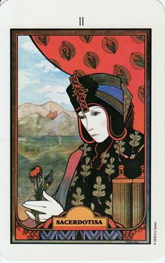 The High Priestess - Aquarian Tarot.  One of my favorite cards and decks.
