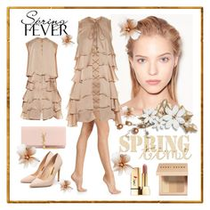 """Spring Fever"" by seadbeady ❤ liked on Polyvore featuring Wolford, Versace, Balmain, Rupert Sanderson, Yves Saint Laurent, Bobbi Brown Cosmetics, Spring and SpringFever"