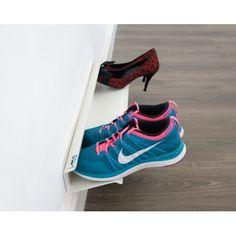 14 Smart Modern Shoe Storage Solutions to Get Rid of Shoe Piles Best Shoe Storage Ideas .Smart shoe storage ideas for your home Shoe Storage Design, Shoe Storage Solutions, Diy Shoe Storage, Diy Shoe Rack, Shoe Racks, Shoe Storage Ideas For Small Spaces, Storage Racks, Bedroom Storage, Creative Shoes