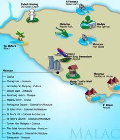 Malacca Melaka Map Might people like to travel to Malaysia?