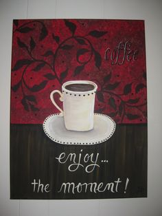 coffee canvas painting