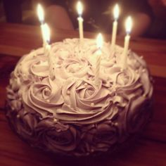 Purple Rose Birthday Cake @claphamcakes Birthday Candles, Birthday Cake, Purple Roses, Cakes And More, Sweets, Sweet Pastries, Birthday Cakes, Goodies, Cake Birthday