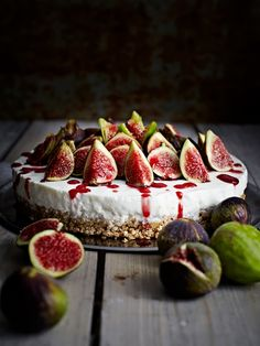 Cheesecake and figs...
