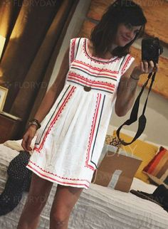 Dresses - $40.99 - Polyester Stripe Sleeveless Above Knee Casual Dresses (1955126831)