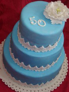 50-th Birthday cake by andreamihalkova