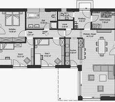 extrem cooler Grundriss für einen Bungalow. Bärenhaus
