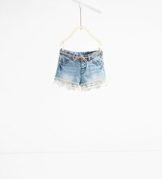 Denim and crochet shorts-JEANS-BABY GIRL | 3 months-3 years-KIDS | ZARA United States