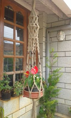 This listing is for a big plant hanger made from a natural 5 ply jute rope.Its a vintage style plant hanger.A beautiful plant hanger to hang in your favourite plant. It measures about 60 in length from top to bottom.( without pot) Tassle measures about 6 in length. Two 5 and one