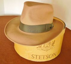 Vintage 40s Stetson Royal De Luxe Turf Club Fedora Men s Hat Size 7 3 8  With Box 46193f584c69