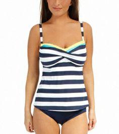 Beach House Key West Stripe Twist Bra Tankini Top at SwimOutlet.com - Free Shipping