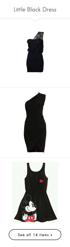 """Little Black Dress"" by whims-and-craze ❤ liked on Polyvore featuring dresses, vestidos, short dresses, vestiti, one shoulder dress, mini dress, lace mini dress, one shoulder lace dress, one shoulder mini dress and form fitting dresses"