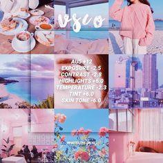 Vsco Filter Pastel, Vsco Filter Blue, Pink Filter, Aesthetic Photography Pastel, Pastel Photography, Vsco Photography, Instagram Themes Vsco, Pink Instagram, Instagram Feed