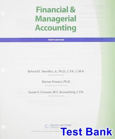 Financial management principles and applications 12th edition titman financial and managerial accounting 10th edition needles test bank test bank solutions manual fandeluxe Images