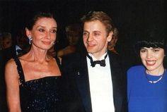 Audrey Hepburn, Mikhail Baryshnikov et Mireille Mathieu