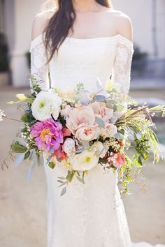 Heaven in a bouquet: http://www.stylemepretty.com/california-weddings/pasadena/2015/03/19/romantic-european-elopement-inspiration/ | Photography: Reverie Supply - http://reveriesupply.com/