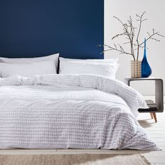 This relaxed casual white cotton bedding has bands of soft cotton tufts that create a textural delight to this calming Scandi-style design. Soft and comfortable in pure, breathable cotton, Bianca bed linen creates a sense of wellbeing that promotes a relaxed and restful sleep.