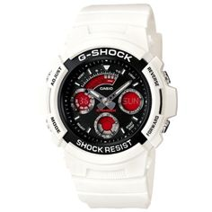 CASIO+G-Shock+AW-591SC-7A+Orologio+Analogico-Digitale Mens Sport Watches, Best Watches For Men, Casio G Shock Watches, Casio Watch, Casio G Shock White, Mens Designer Watches, Sport Casual, Digital, Men Watch