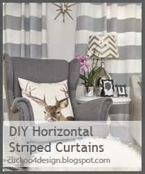 Cuckoo 4 Design: Horizontal striped curtain DIY project
