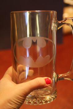 Drink like the Dark Knight. Easily etch a beer glass for a perfectly nerdy gift for your favorite connoisseur.