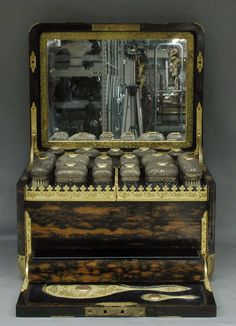 Jenner & Knewstub Coromandel Vanity Box with Betjemann Patent Mechanism from metmuseum.org, ca. 1874-1875