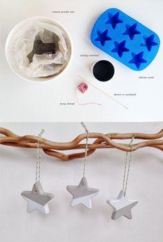 DIY Cemento Christmas Stars - Estrellas de navidad con cemento