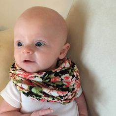 Instant Download PDF Pattern and Tutorial - Baby Faux Infinity Scarf **This is a downloadable pattern and NOT a finished product!** **This pattern is for personal use only.** Love the look of infinity scarves? Always wanted one for your baby, but concerned about safety? This faux