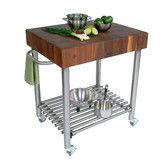 Found it at Wayfair - Cucina Americana D'Amico Kitchen Cart with Butcher Block Top